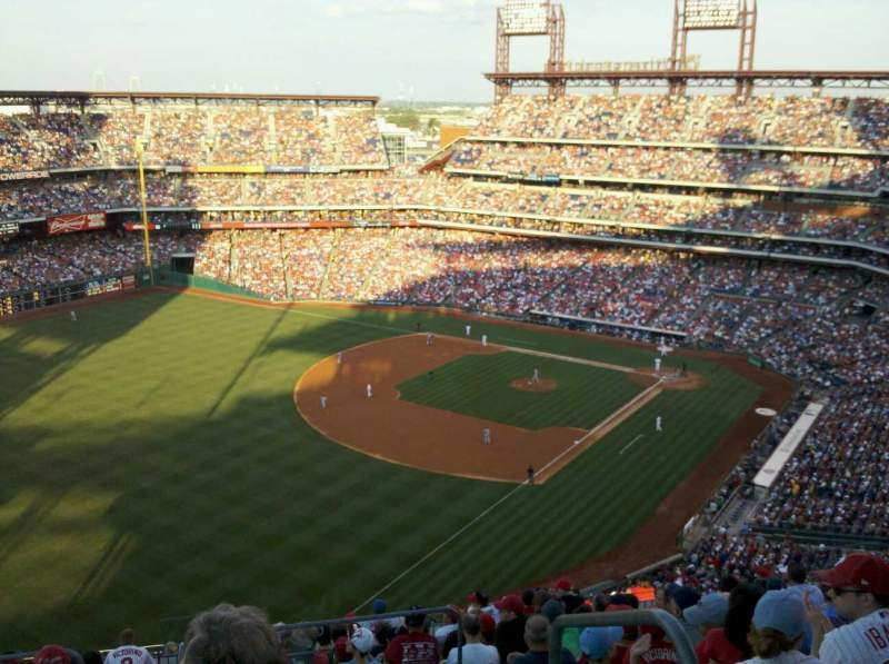 Seating view for Citizens Bank Park Section 434 Row 12 Seat 1