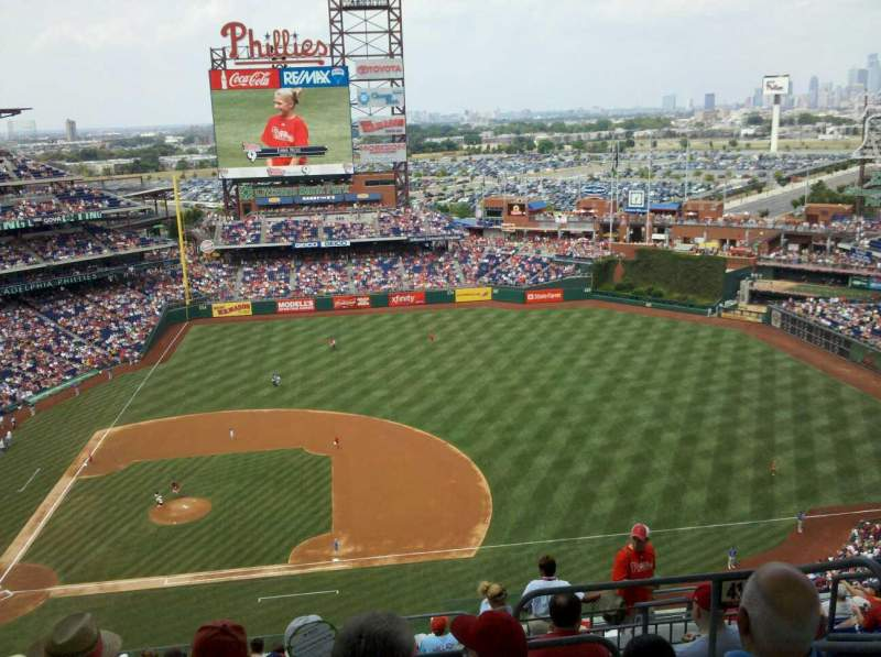 Seating view for Citizens Bank Park Section 415 Row 14 Seat 3