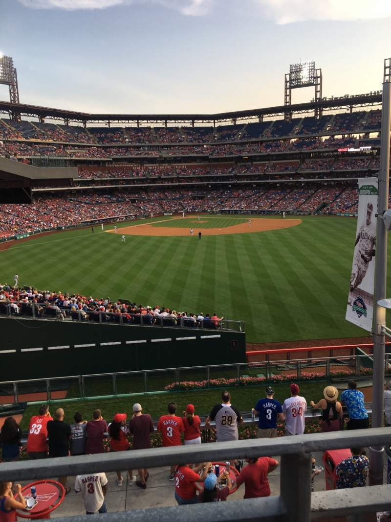 Seating view for Citizens Bank Park Section Rooftop Bleachers Row 1 Seat 15