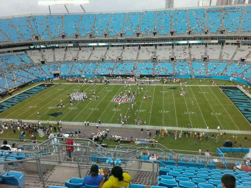 Seating view for Bank of America Stadium Section 541 Row 15 Seat 20