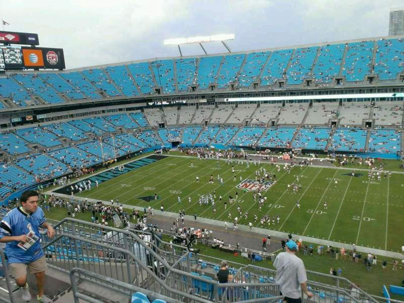 Seating view for Bank of America Stadium Section 540 Row 14 Seat 18