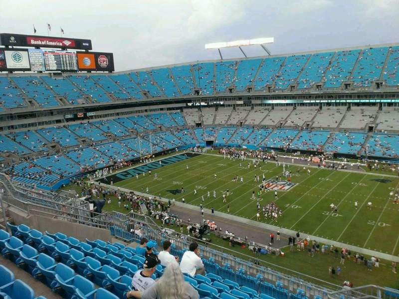 Seating view for Bank of America Stadium Section 539 Row 14 Seat 3