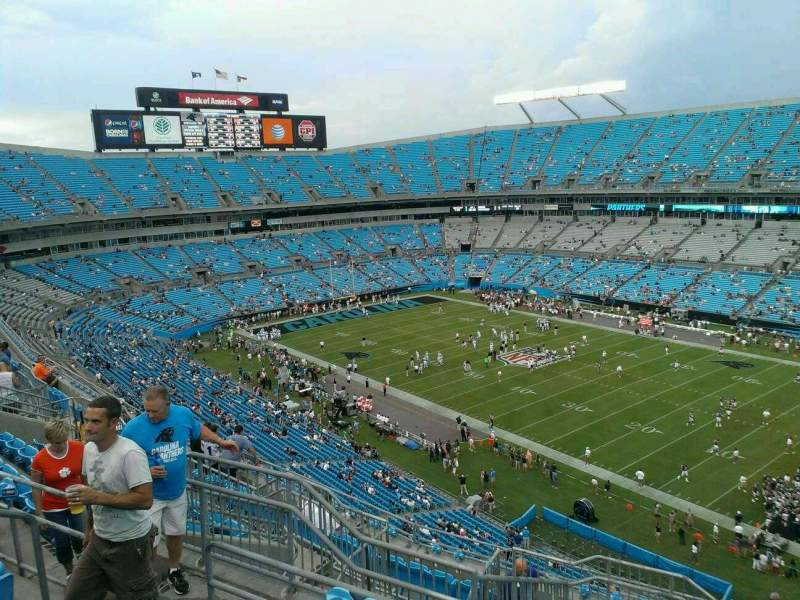 Seating view for Bank of America Stadium Section 537 Row 8 Seat 13