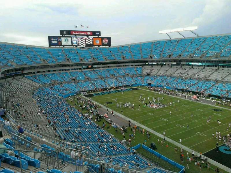 Seating view for Bank of America Stadium Section 533 Row 6 Seat 11