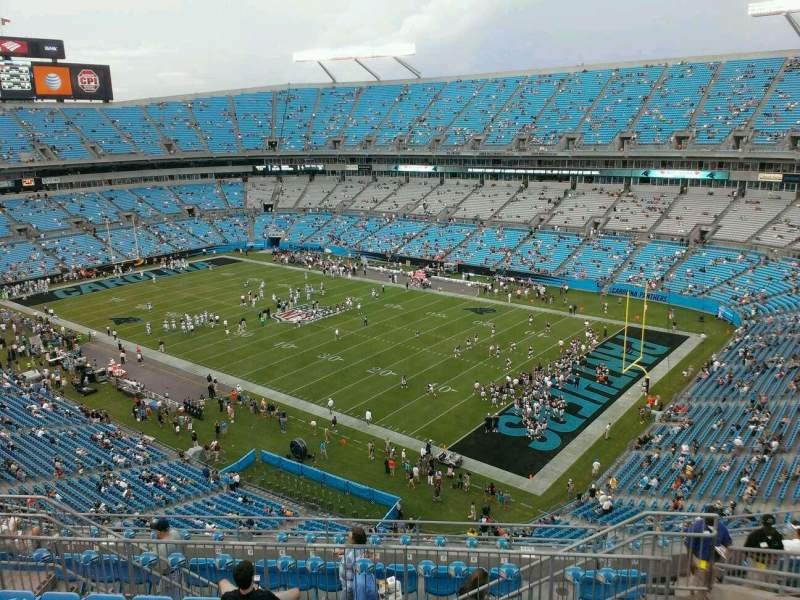 Seating view for Bank of America Stadium Section 536 Row 8 Seat 10