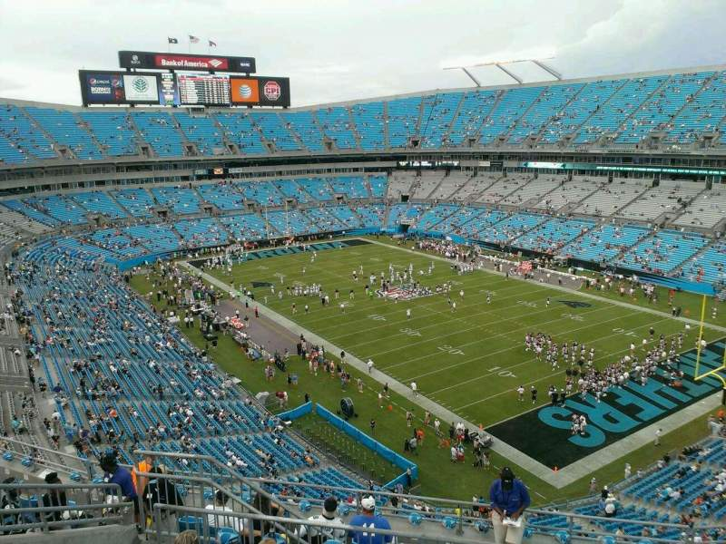 Seating view for Bank of America Stadium Section 535 Row 6 Seat 11