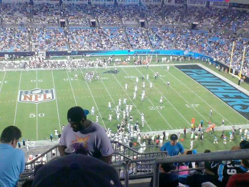 Seating view for Bank of America Stadium Section 542 Row 11 Seat 1