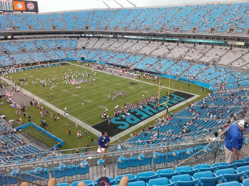 Seating view for Bank of America Stadium Section 533 Row 6 Seat 13