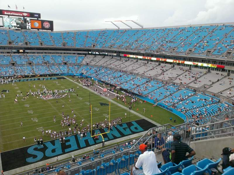 Seating view for Bank of America Stadium Section 530 Row 5 Seat 13