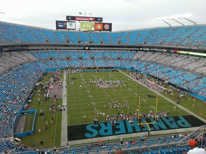Seating view for Bank of America Stadium Section 530 Row 5 Seat 14