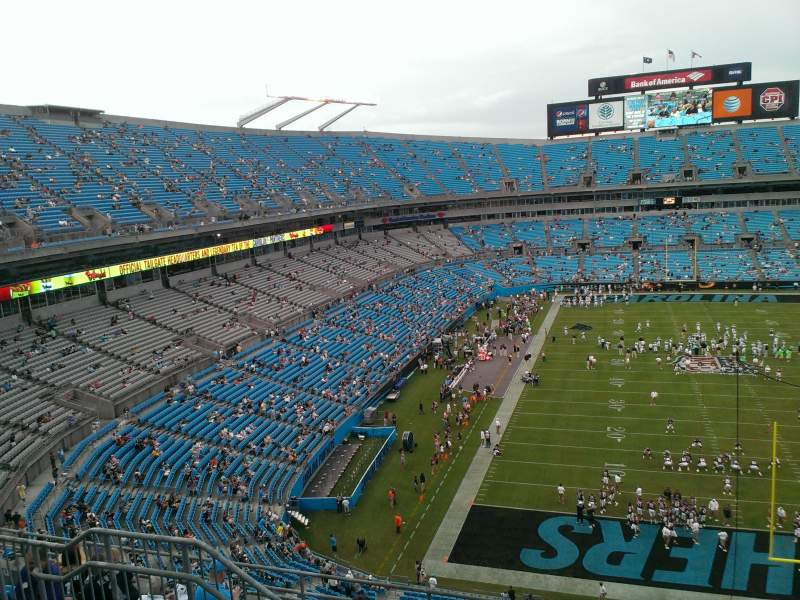 Seating view for Bank of America Stadium Section 529 Row 4 Seat 14