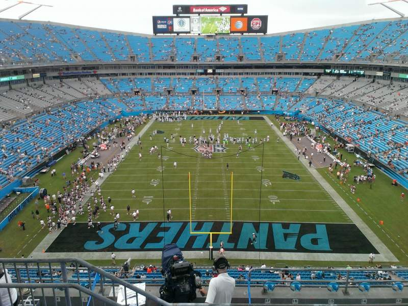 Seating view for Bank of America Stadium Section 528 Row 3 Seat 17