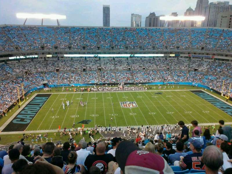 Seating view for Bank of America Stadium Section 543 Row 11 Seat 12