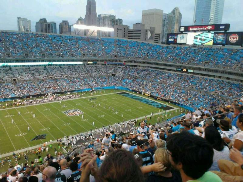 Seating view for Bank of America Stadium Section 545 Row 20 Seat 13