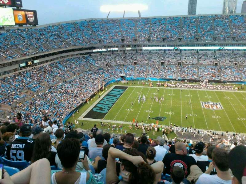 Seating view for Bank of America Stadium Section 543 Row 12 Seat 11