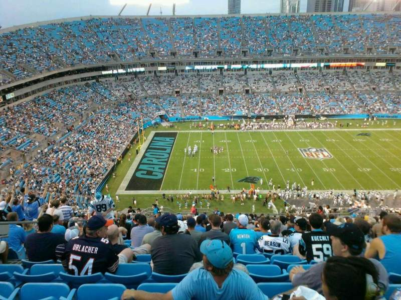 Seating view for Bank of America Stadium Section 544 Row 24 Seat 18