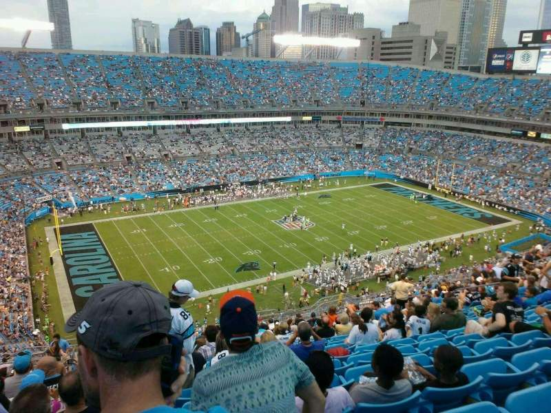 Seating view for Bank of America Stadium Section 546 Row 23 Seat 19