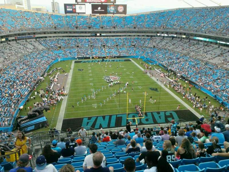 Seating view for Bank of America Stadium Section 502 Row 15 Seat 21