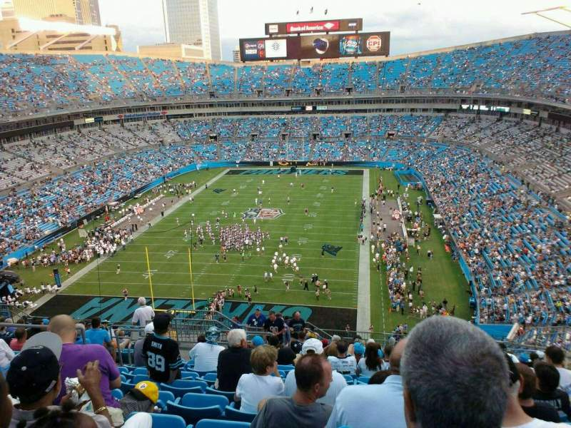 Seating view for Bank of America Stadium Section 554 Row 15 Seat 18