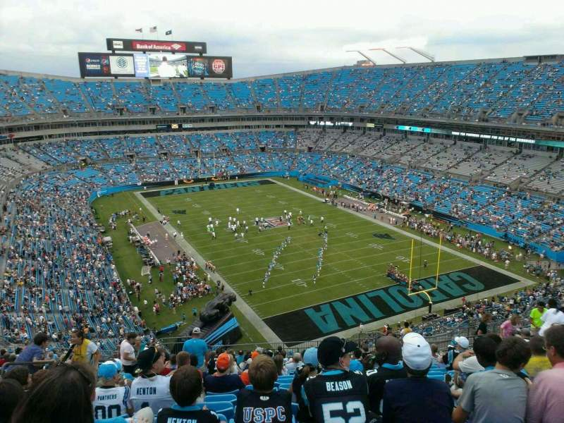 Seating view for Bank of America Stadium Section 505 Row 18 Seat 25