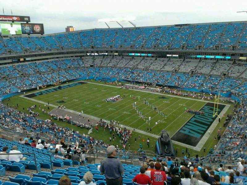 Seating view for Bank of America Stadium Section 509 Row 13 Seat 15