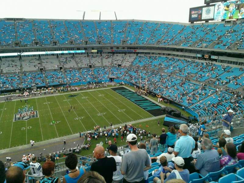 Seating view for Bank of America Stadium Section 514 Row 10 Seat 17