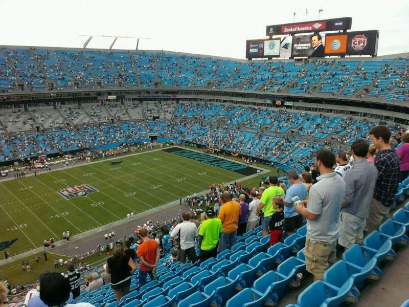 Seating view for Bank of America Stadium Section 517 Row 15 Seat 22