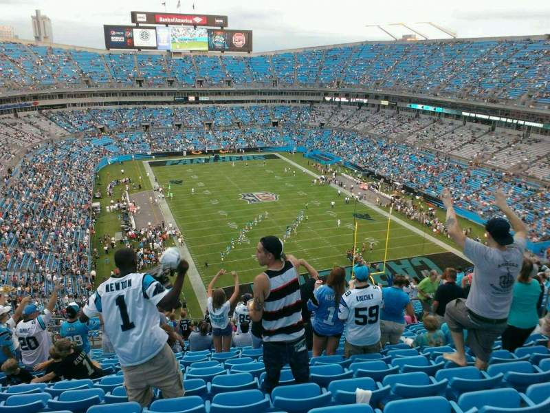 Seating view for Bank of America Stadium Section 504 Row 19 Seat 15