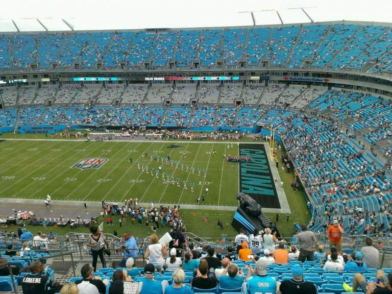 Seating view for Bank of America Stadium Section 511 Row 14 Seat 17