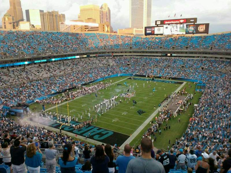 Seating view for Bank of America Stadium Section 552 Row 16 Seat 14