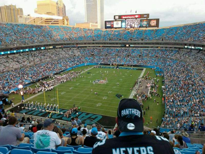 Seating view for Bank of America Stadium Section 553 Row 13 Seat 16