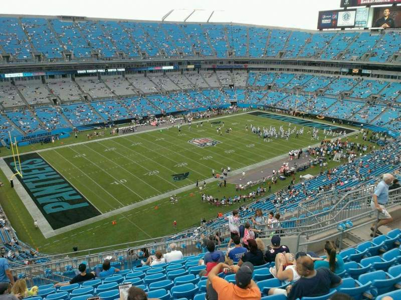 Seating view for Bank of America Stadium Section 520 Row 11 Seat 15