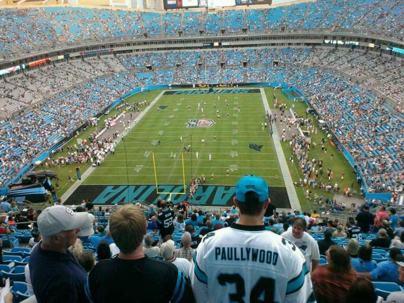 Seating view for Bank of America Stadium Section 500 Row 16 Seat 21