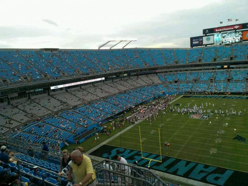 Seating view for Bank of America Stadium Section 526 Row 8 Seat 16