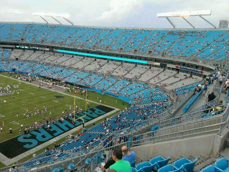 Seating view for Bank of America Stadium Section 532 Row 8 Seat 14