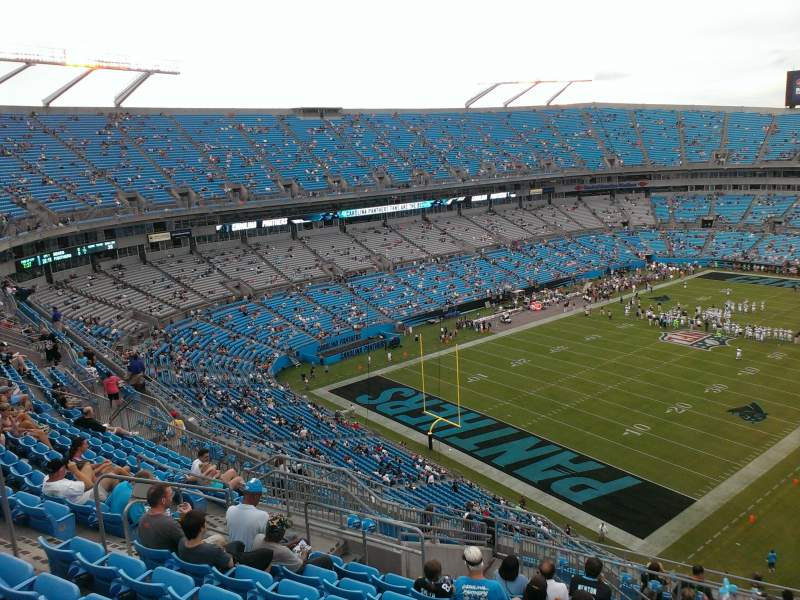 Seating view for Bank of America Stadium Section 525 Row 12 Seat 13
