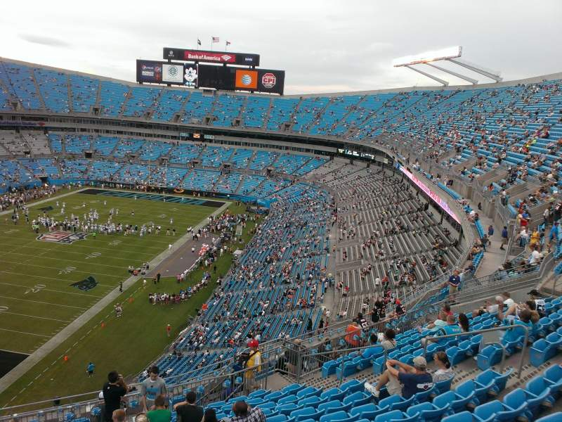 Seating view for Bank of America Stadium Section 523 Row 12 Seat 17