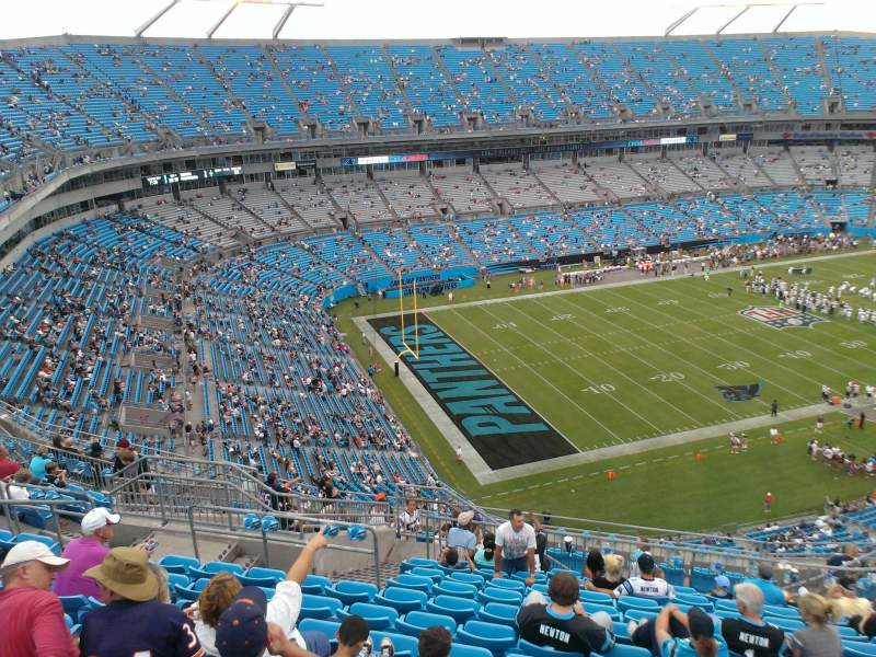 Seating view for Bank of America Stadium Section 521 Row 12 Seat 13