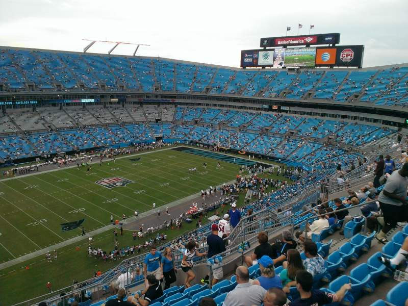 Seating view for Bank of America Stadium Section 519 Row 11 Seat 15
