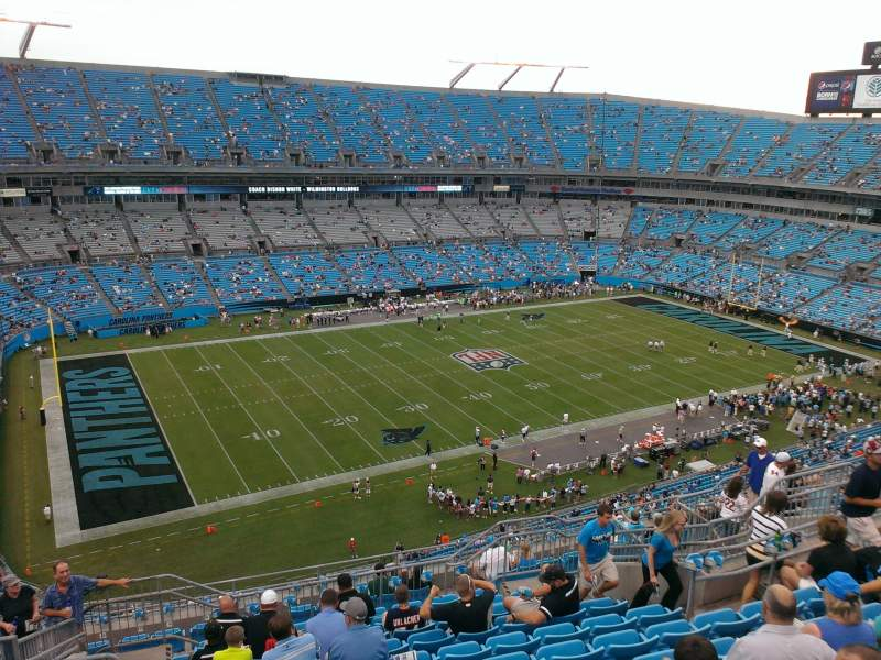 Seating view for Bank of America Stadium Section 519 Row 11 Seat 14