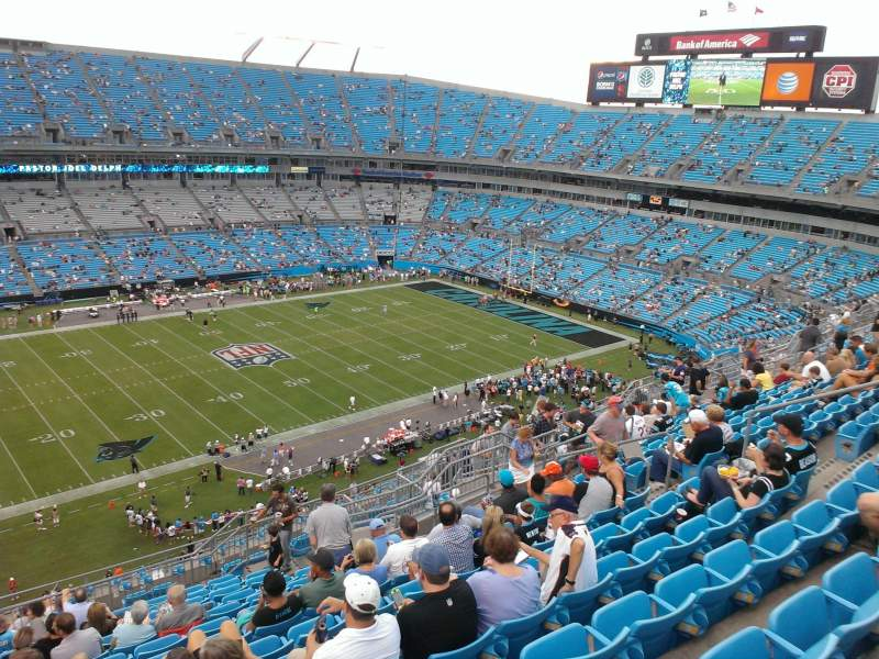 Seating view for Bank of America Stadium Section 518 Row 13 Seat 15