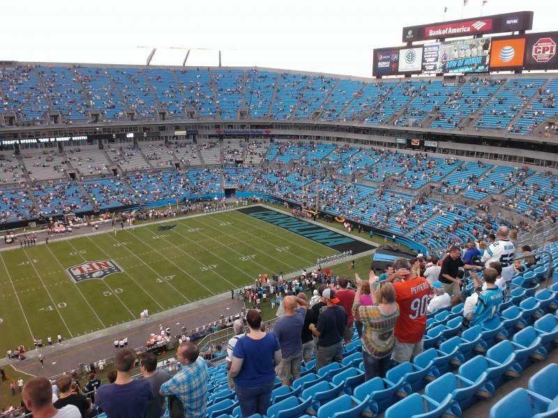 Seating view for Bank of America Stadium Section 516 Row 15 Seat 18