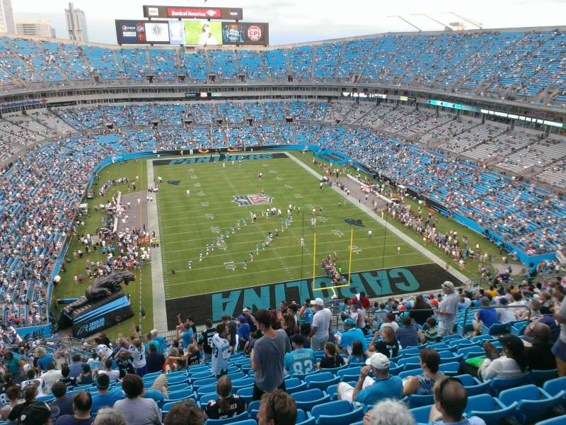 Seating view for Bank of America Stadium Section 503 Row 21 Seat 12