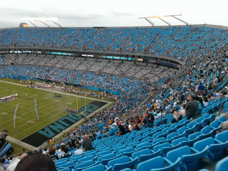 Seating view for Bank of America Stadium Section 506 Row 22 Seat 15