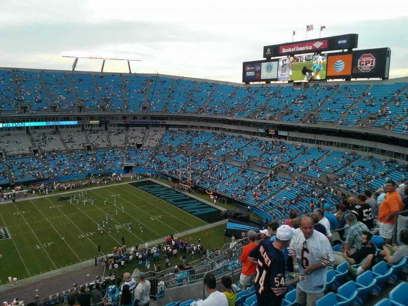 Seating view for Bank of America Stadium Section 515 Row 13 Seat 15