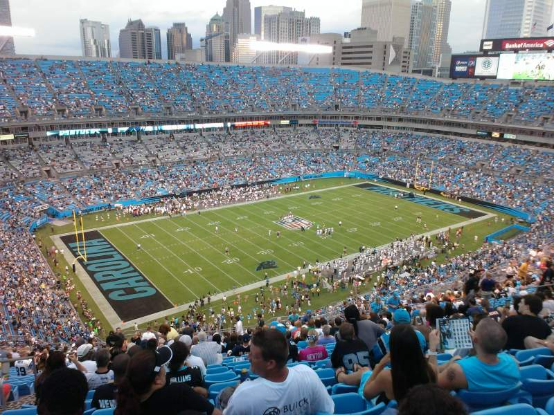 Seating view for Bank of America Stadium Section 547 Row 26 Seat 24