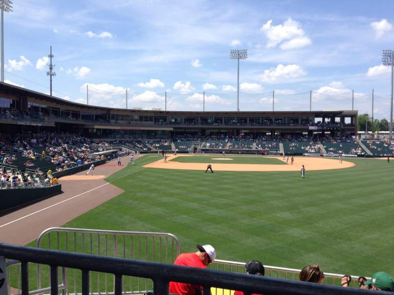 Seating view for BB&T Ballpark (Charlotte) Section HR-5 Row E Seat 16
