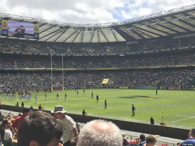 Seating view for Twickenham Stadium Section L22 Row 21 Seat 109