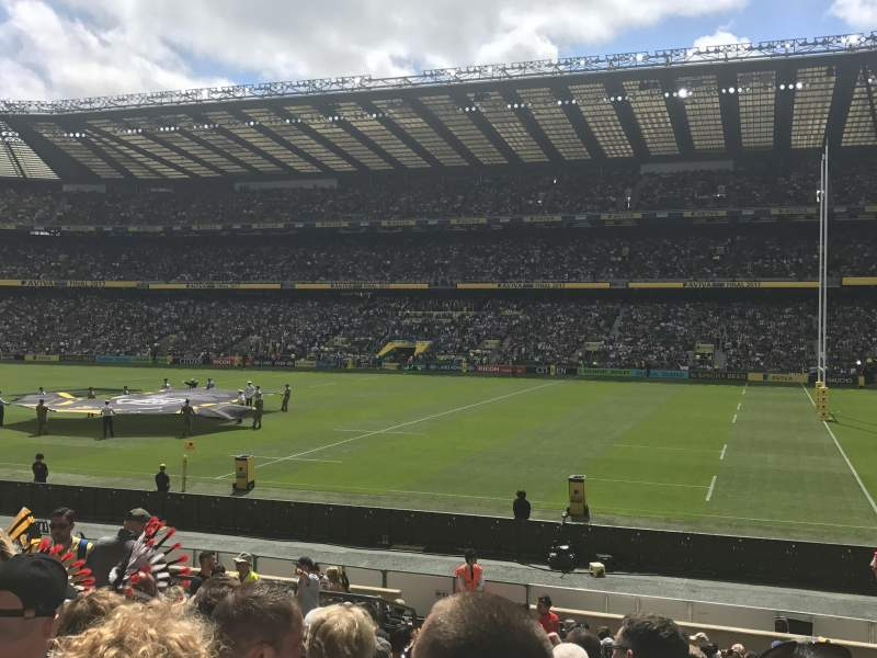 Seating view for Twickenham Stadium Section L22 Row 21 Seat 109