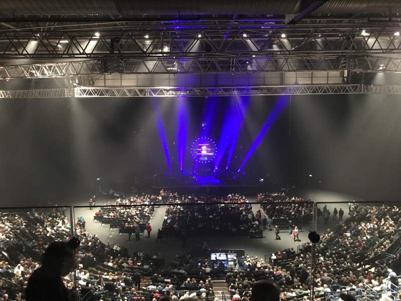 Seating view for Arena Birmingham Section Show deck Row Stools Seat 8